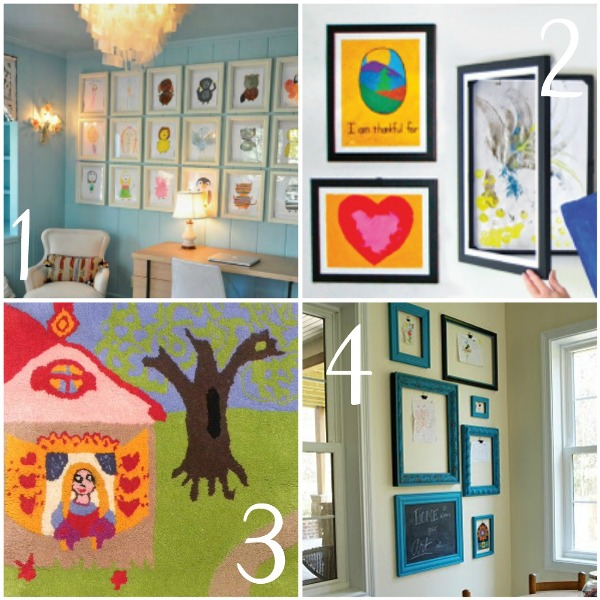 decorating with children's art1