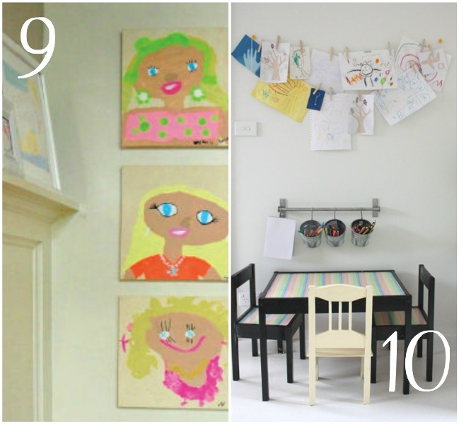 decorating with children's art3