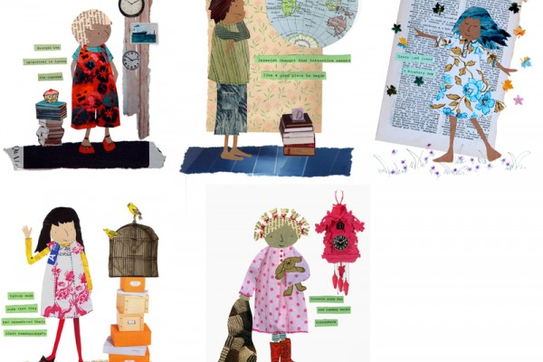 small people collage