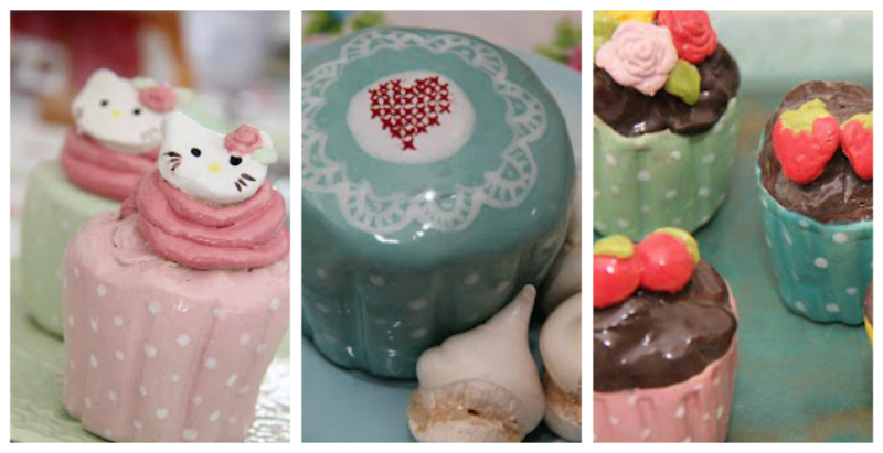 home sweet home fair-ceramic cupcakes