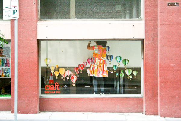 mosey craft window display