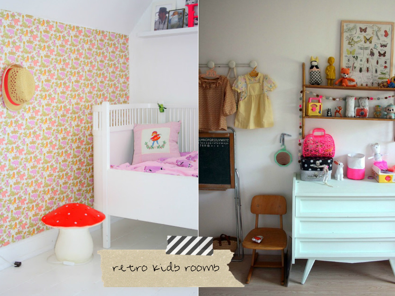 retro kids rooms