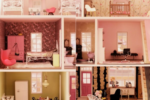 miniature tredny doll house