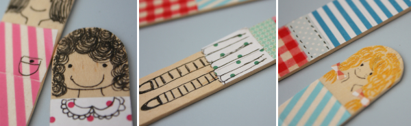 DIY cute dolls bookmarks