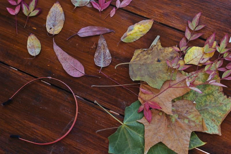 autumn leaves tiara DIY