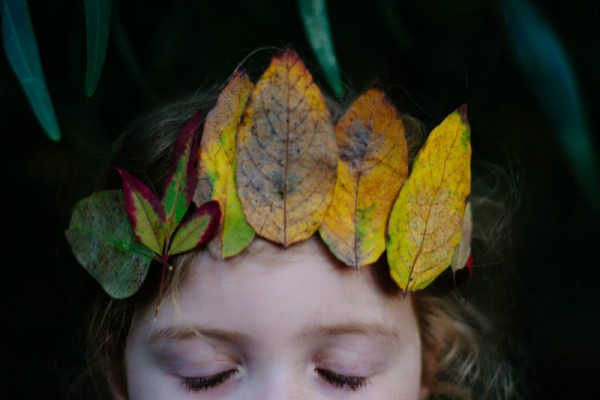 autumn leaves tiara DIY