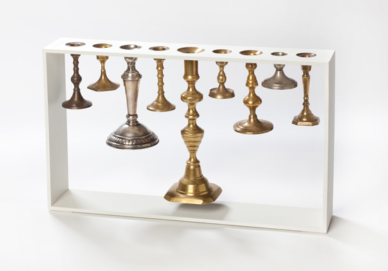 'Menorah' candelabrum by Reddish
