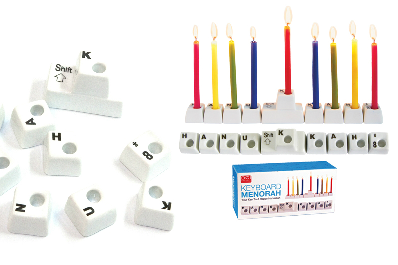 keyboard menorah