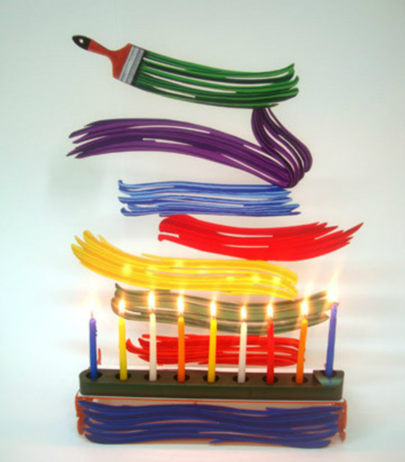 david gerstein colors strokes menorah