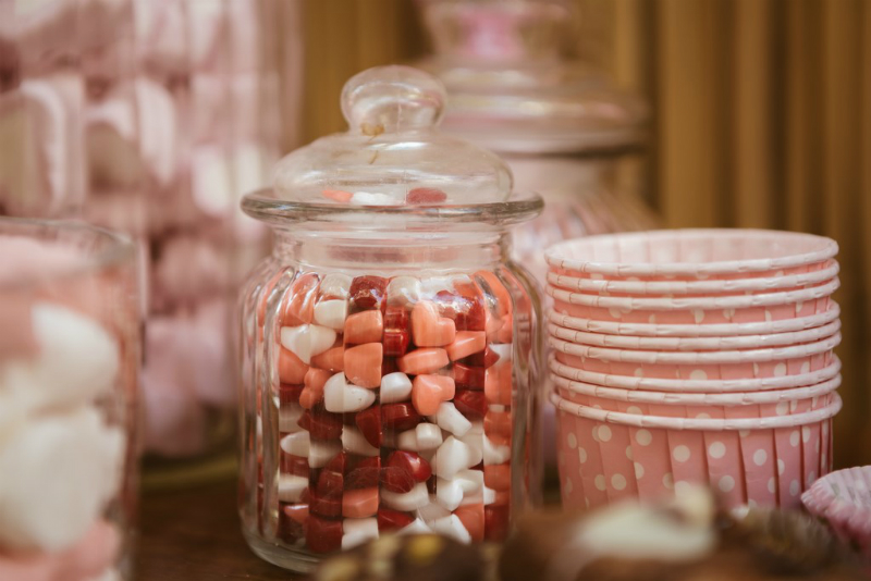 pink ballet inspired party sweets