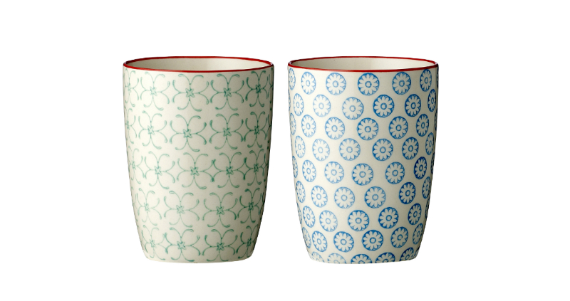 bloomingville hand painted ceramic cups