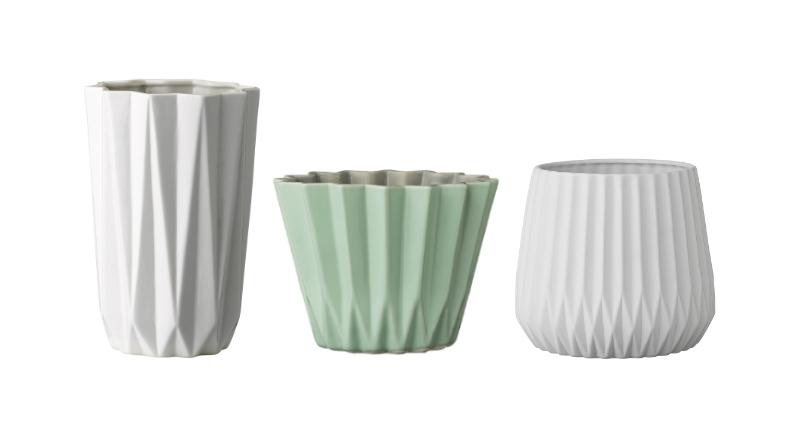 bloomingville ceramic origami pots
