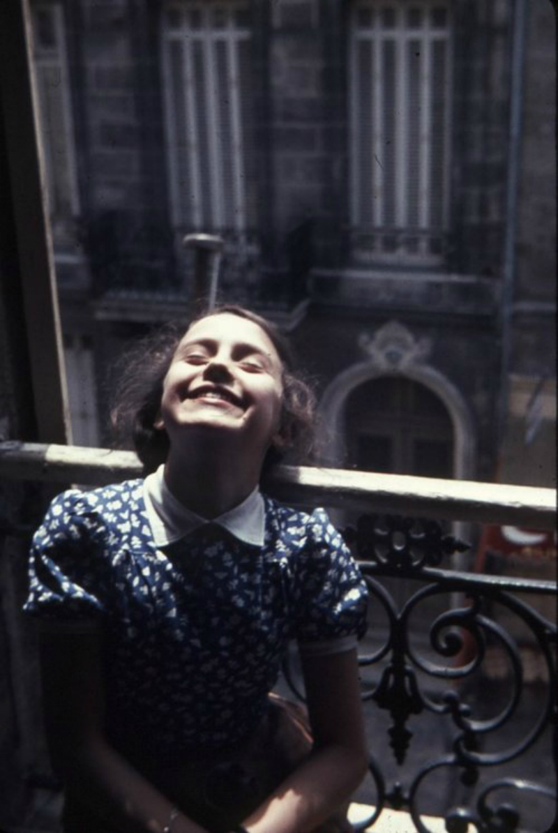 smiling in the sunshine vintage girl
