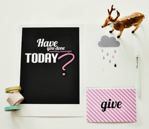 living inspired posters sets for charity