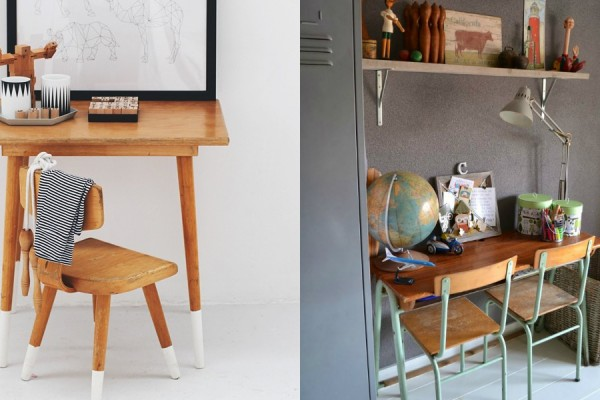 vintage desks for kids