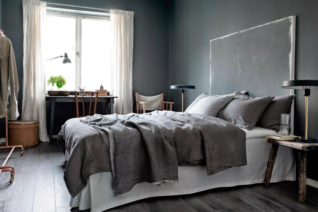 gray walls
