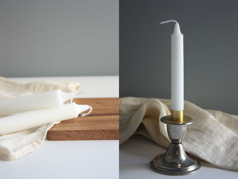DIY candle sticks for table decor