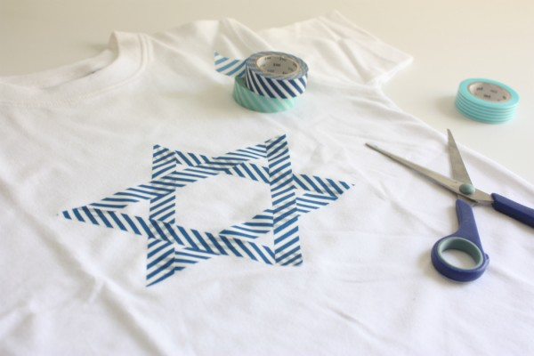 yom haatzmaut israeli independance day diy t shirt washi tape www.cafe-veyafe.com