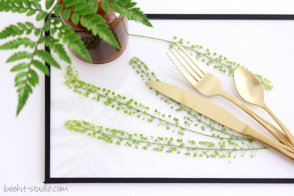 shavuot green leaf table setting