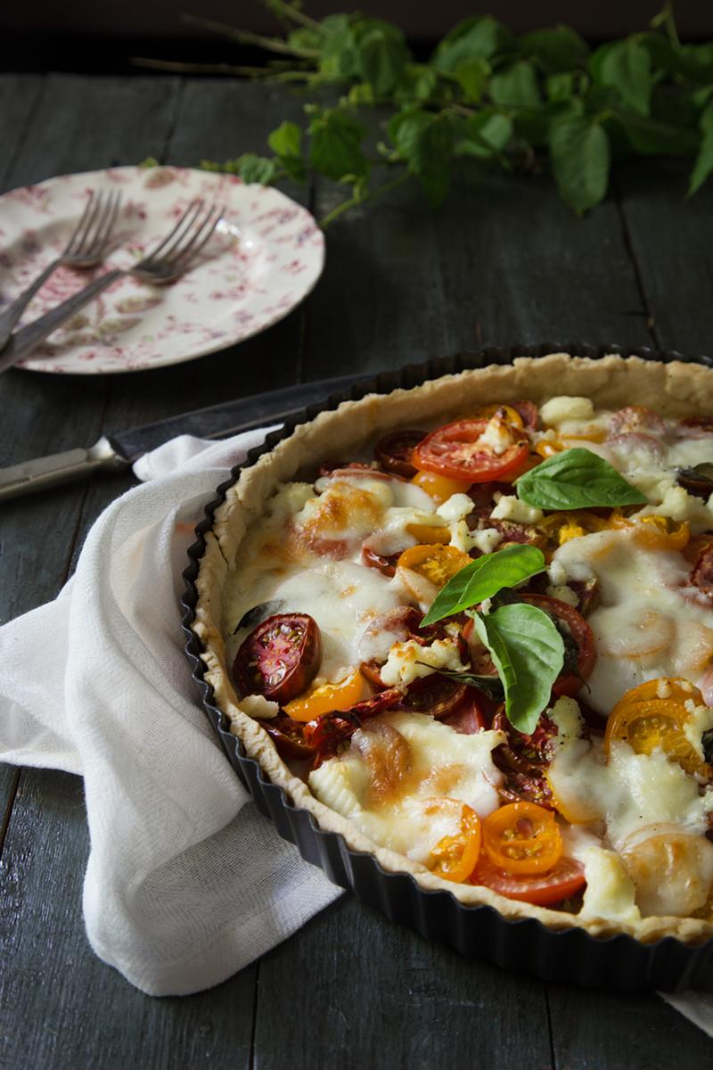 Summer tomato tart