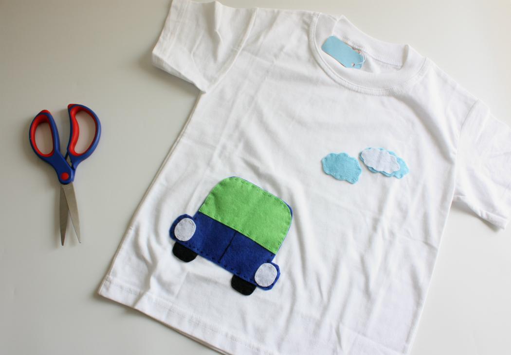 DIY decorated t shirt