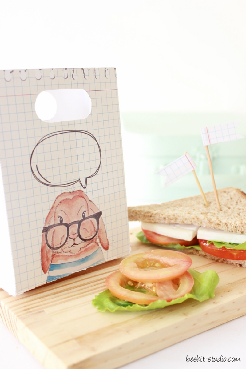 Back to school illustrated sandwich wrapping paper bag free printables by www.cafe-veyafe (2)