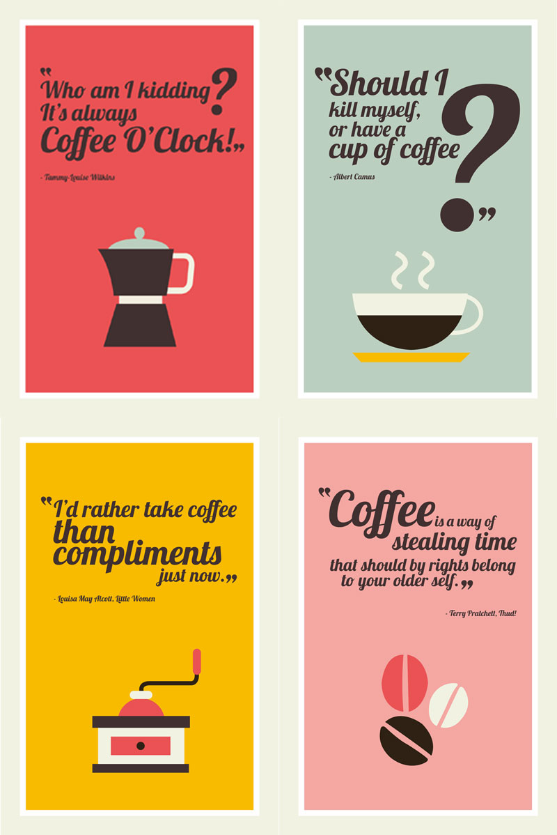 coffe-quotes-printable postcards by cafe-veyafe.com