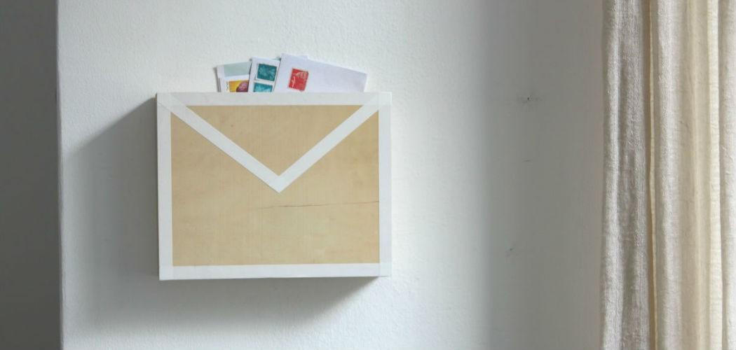 inbox mail tray diy repurpose wooden drawer