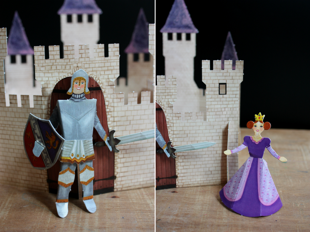paper cat paper castle princess and knight to fold creating with kids activities