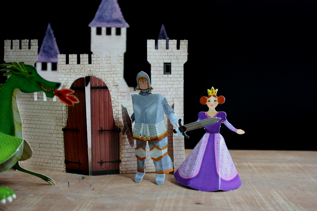 paper cat paper folding castle princess and knight creating with kids activities