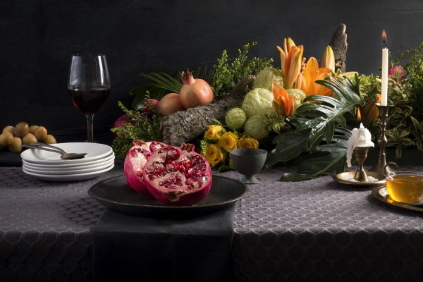 rosh hashana holiday tablescape
