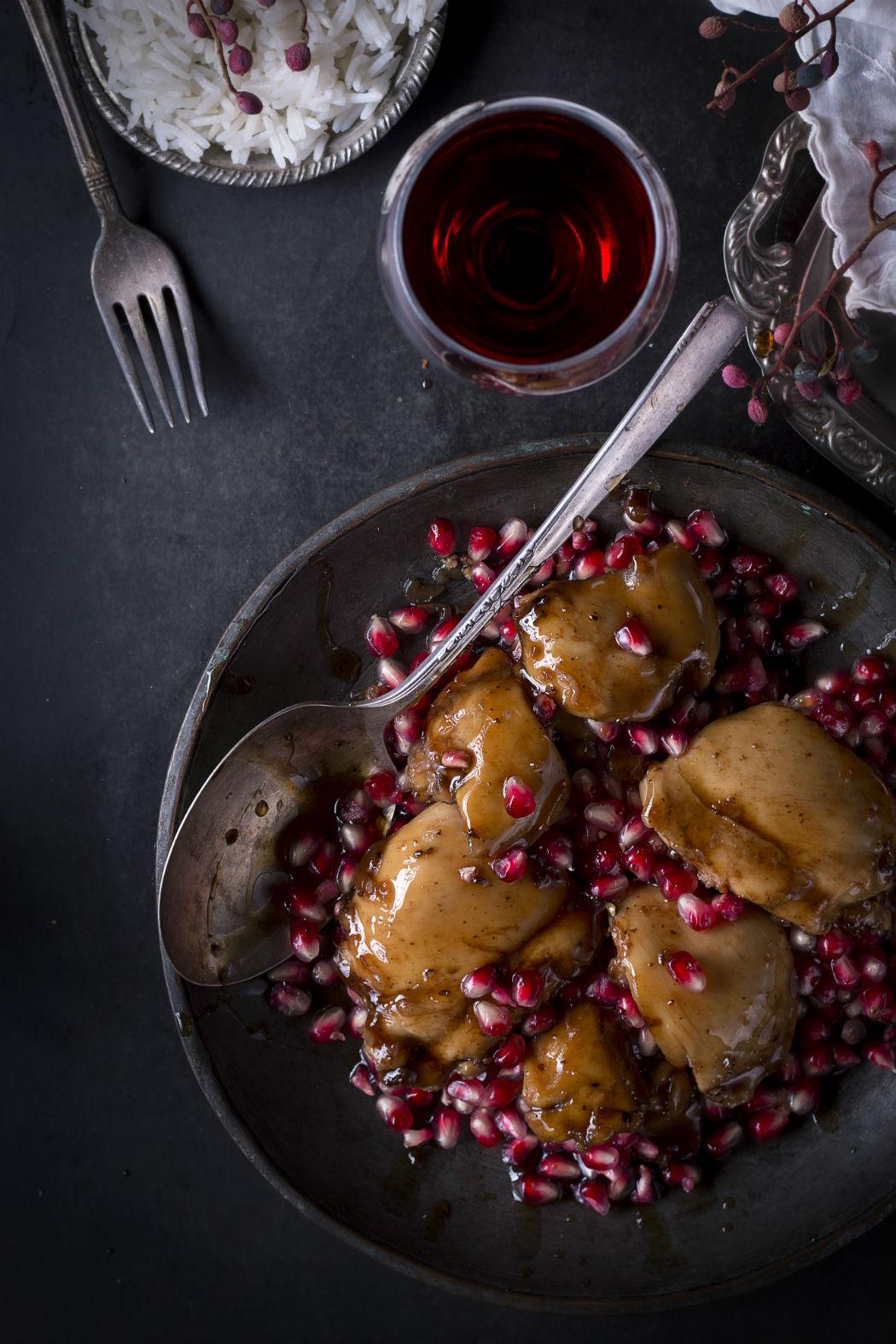 pomegranate sauce chicken