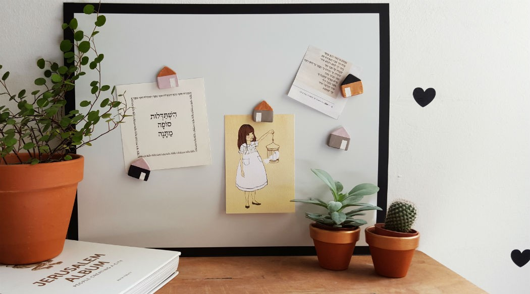 DIY make home-shaped DAS magnets