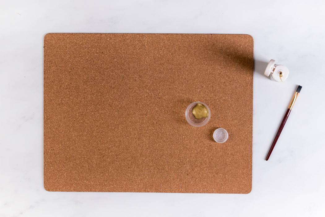 Ikea hack corck placemat stamping diy