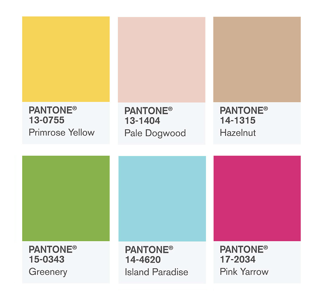 pantone colors spring summer 2017 for passover editorial