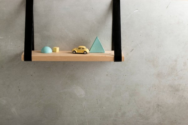 DIY leather strap wooden shelf (2)