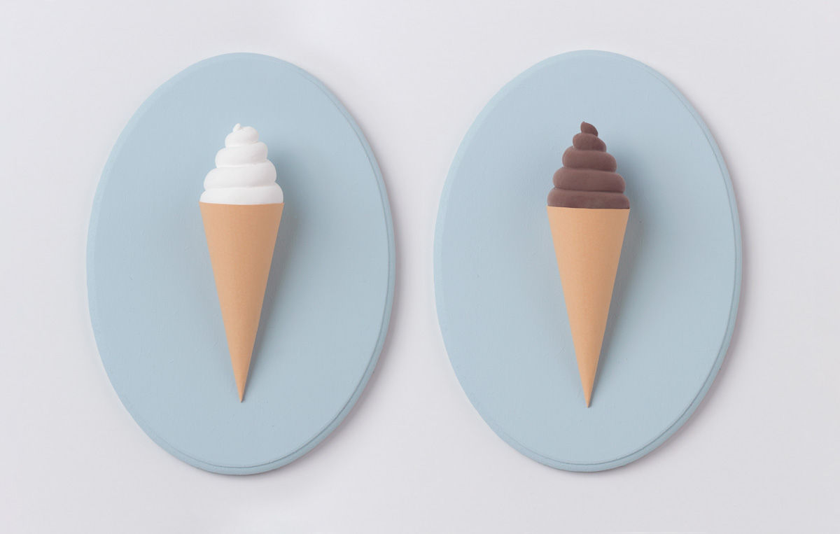 3d vanilla and chocolate ice cream cones key holder diy