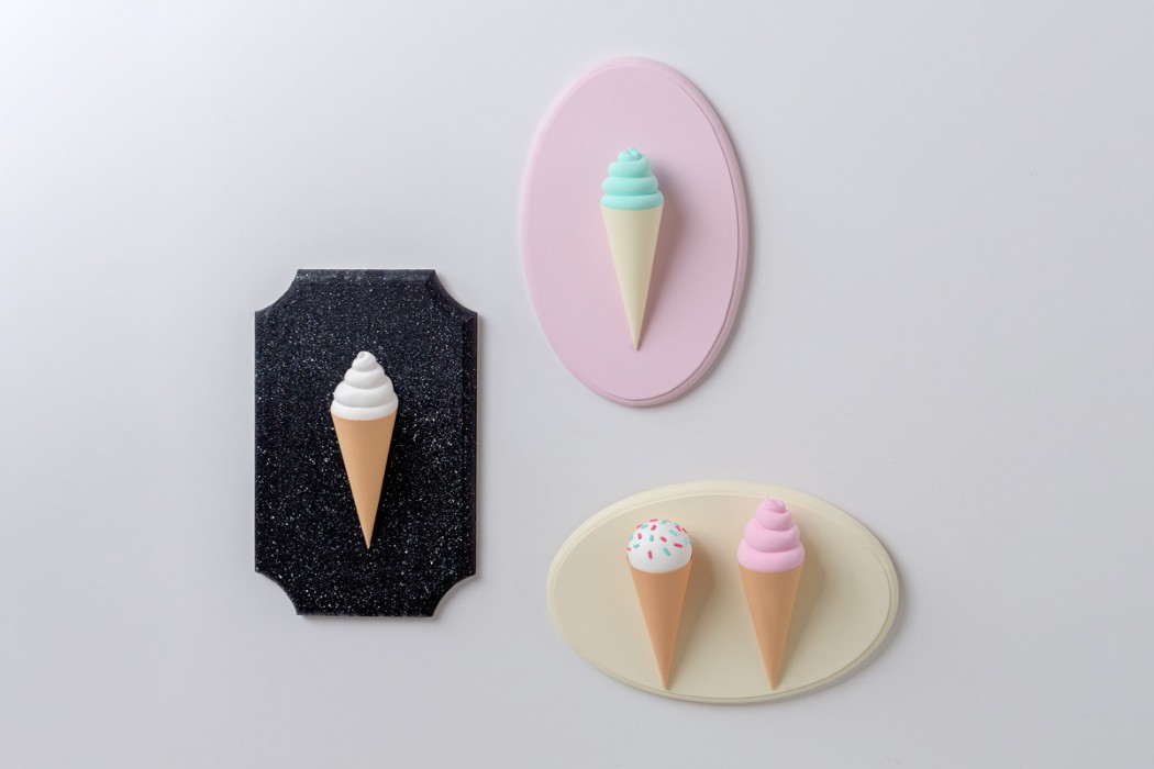 3d pastel ice cream cones key holder diy