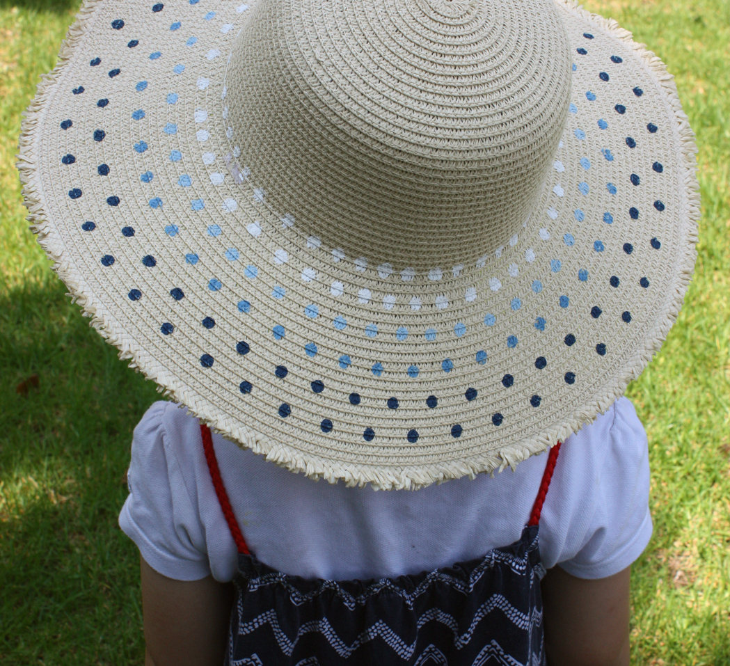 how to decorate your straw hat with diy paint pattern (1)