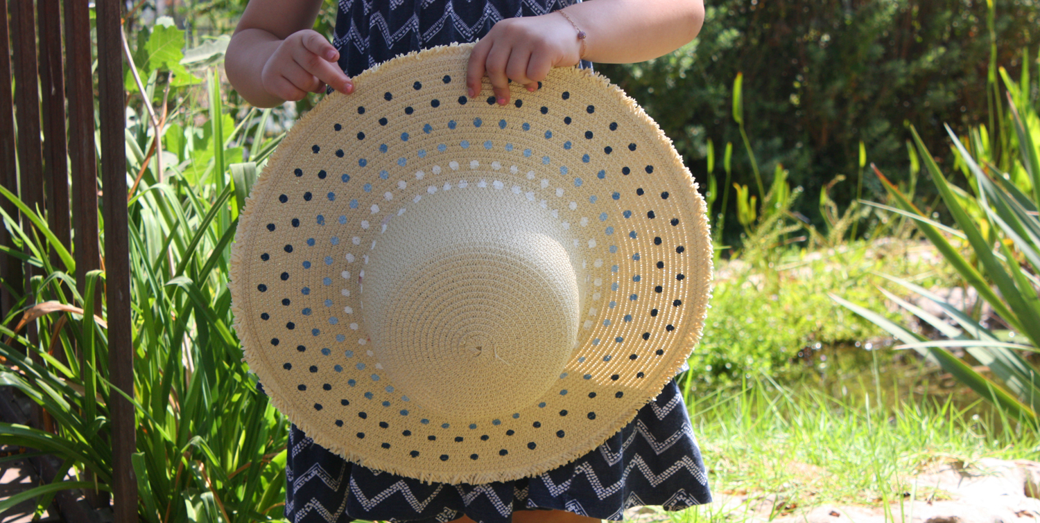 how to decorate your straw hat with diy paint pattern MAIN