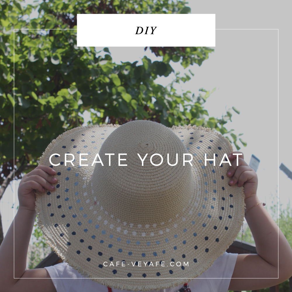 how to decorate your straw hat with diy paint pattern