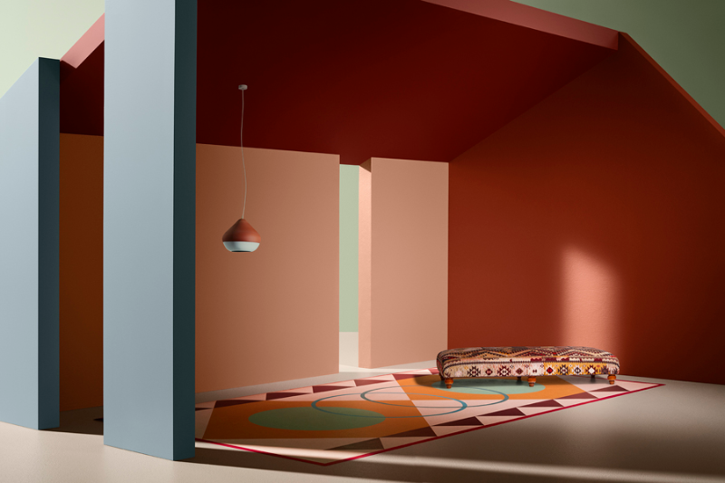 teracota orange and pink walls kinship ethnic trend 2018