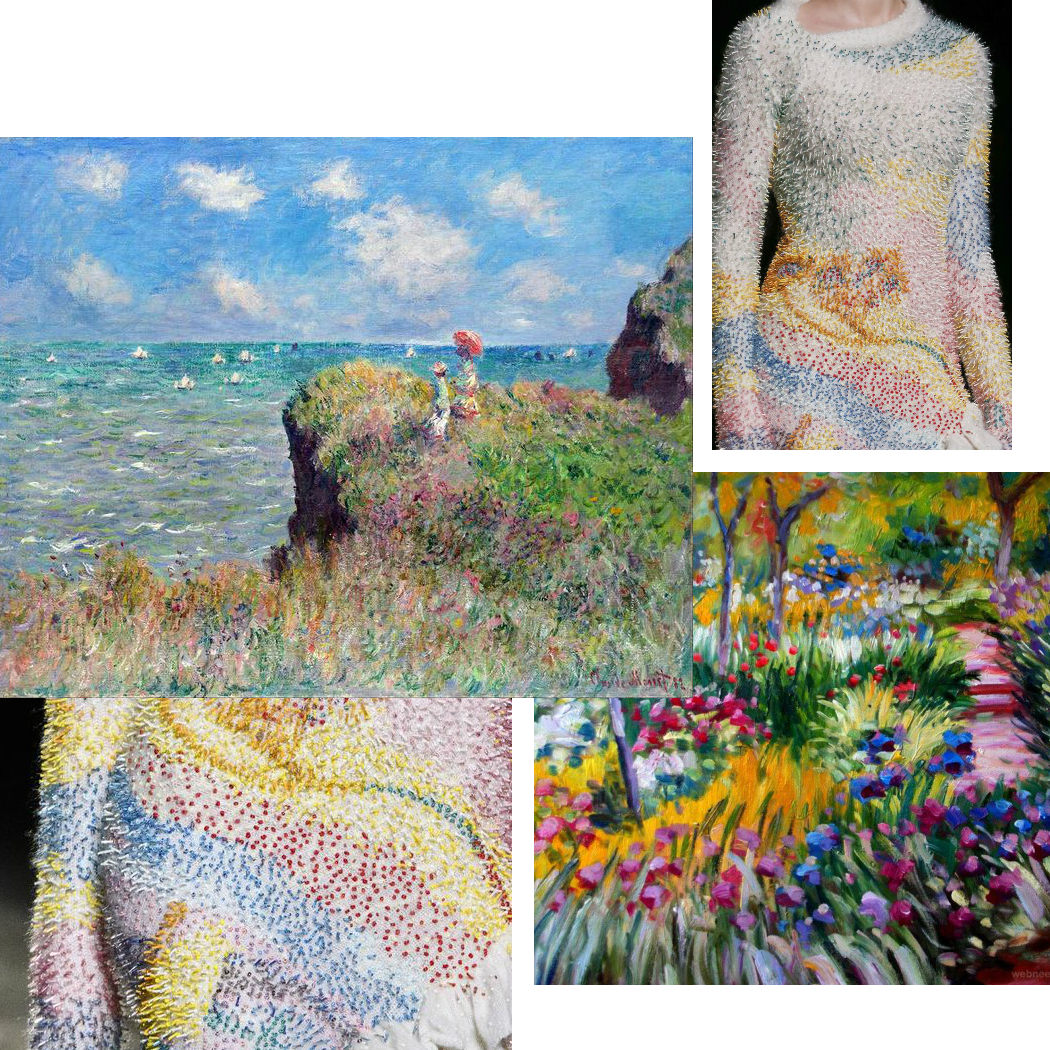 mary katrantzou fw 2018 fashion inspired by claude monet art