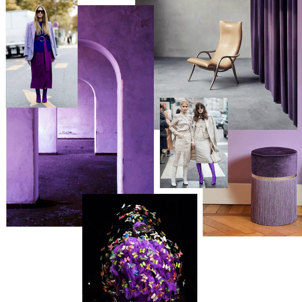 ultra violet in fashion and interior design