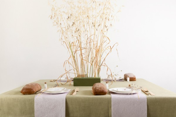 shavuot thanks giving tabl scape design wheat salt and bread motif