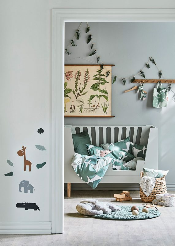 nursery design in sage green done by deer