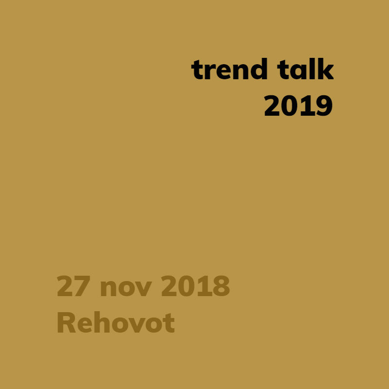 trend talk 2019 rehovot