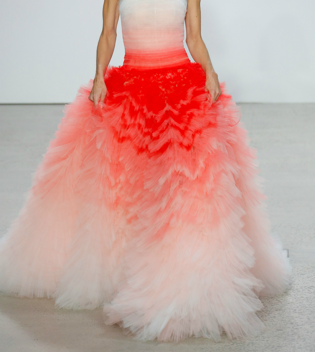 oscar de la renta living coral dress