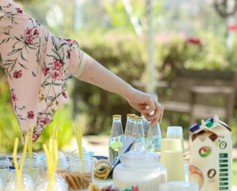 sunny summer yellow themed garden party