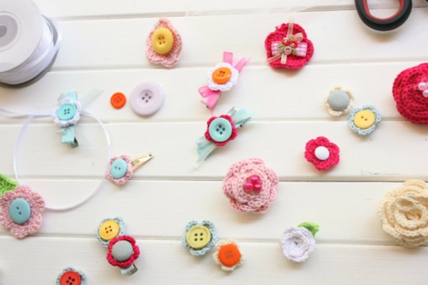 DIY-decorate with crochet-flowers